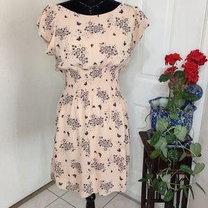 Pinky - Floral & Butterfly Dress (size L)